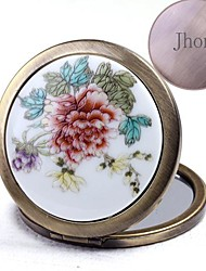 Personalized  Bronze Ceramic Painting Cosmetic Mirror