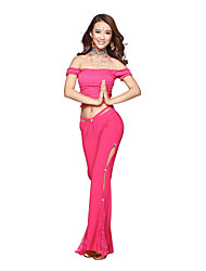 Belly Dance Dancewear Women's Crystal Cotton Elegant Belly Dance Outfits Including Top And Bottom(More Colors)