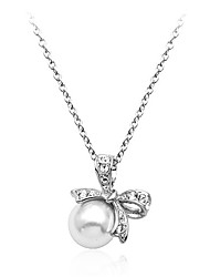 Lureme Women's Fashion Bowknot Preal Necklace