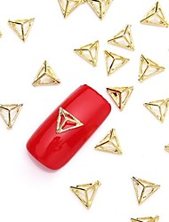50PCS 3D Gold Nail Art Alloy Slice Metallic Golden Stud Glittery Rivet Nail Jewelery for Nail Design