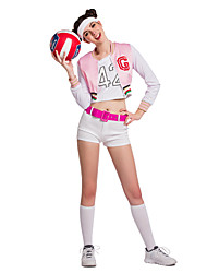 Cheerleader Costumes Performance Women's Sexy Cotton Dance Outfit-Including Hand Flowers And Socks