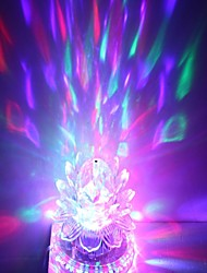 US plug 3x3W High Power RGB Light LED Crystal Magic and Sunflower Stage Light Rotating Lamp (85-265V)