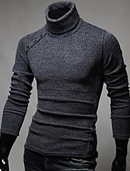 altos suéteres de cuello de yuntuo hombres