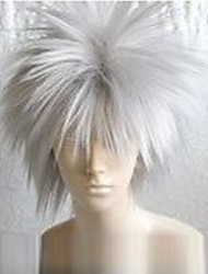 Cosplay Wigs Naruto Hatake Kakashi White Short Anime Cosplay Wigs 30 CM Heat Resistant Fiber Male