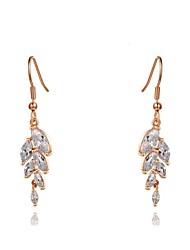 la mode oreille clair des femmes de riz boucle d'oreille de cristal de zircon forme goutte d'alliage (une paire)