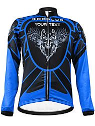kooplus unisex lobo personalizado primavera otoño manga larga el poliester - negro y azul