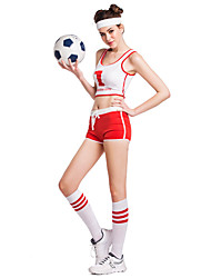 Cheerleader Costumes Performance Women's Sexy Polyester Dance Outfit-Including Hand Flower And Socks