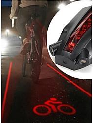 ls061 5 levou dois feixes de laser bicicleta inteligente luz da cauda traseira logotipo segurança
