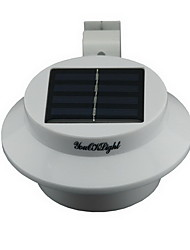 YouOKLight® YL0415 Waterproof 0.3W 40lm 3-LED Warm White Solar Powered Garden Wall Lamp - White