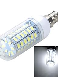 E14 10W 1000LM 6500K/3000K 56-5730 SMD Warm/Cool White Light LED Corn Bulb (AC 220~240V)