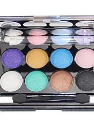 Mate 8 colores profesional deslumbrante&paleta de cosméticos de maquillaje sombra de ojos brillo 3in1