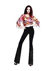 mj®: kvinnor 2014 vinter djup färg lyxig sexig spik pärla broderade mikro bootleg jeans skinny svart