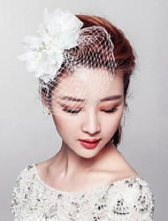 Women's Alloy / Imitation Pearl / Fabric / Net Headpiece-Wedding / Special Occasion / Outdoor Flowers / Birdcage Veils