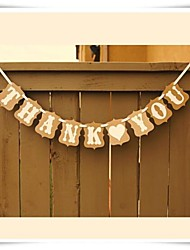 Wedding Décor Thank You Bunting Sign  Decor Vintage Retro Photo Prop
