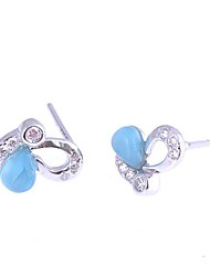 AS 925 Silver Jewelry  Color stone earrings