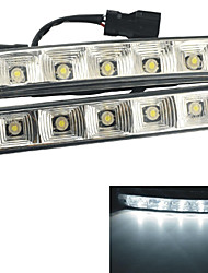 Carking™ Universal 12V 5050-5 LED DRL Driving Daytime Running Light-White Light(2PCS)