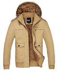 Fashion Long Sleeve Hoodie Cotton Coat