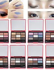 9 cores nova paleta de sombras coloridas
