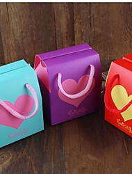 Heart-shaped Cardboard Favor Bags For Wedding  Set of 100(More colors)