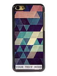 caja del teléfono personalizado - colorida caja de metal del diseño del triángulo de 5c iphone