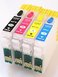 Permanent Chip EPSON  T1711-T1714 Refillable Ink Cartridge For EPSON Expression Home XP-103/XP-203/XP-207/XP-313/XP-413