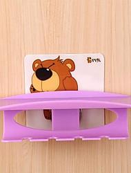 vv oso conjunto de accesorios de baño, titular multifuncional plástico mágico seamles stick-up cepillo de dientes moderno (color al azar)