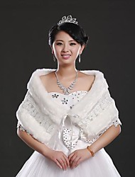 Fur Wraps Faux Fur Lace up Wedding/Special Occasion Shawl