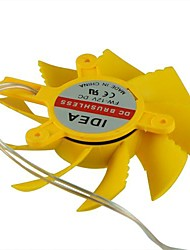 8cm yellow plastic DC cooling fan