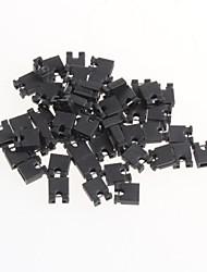 Pitch 2.54mm Jumper Shorted Shorted Cap Pin Connector Block Cap(50Pcs)