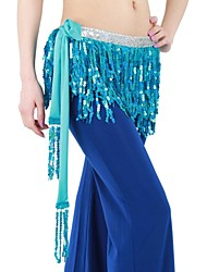 Belly Dance Shiny Sequin for Practice Waist Chain/Shawls(More Colors)