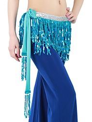 Dance Accessories Belt Women's Performance / Training Cotton / Sequined Paillettes / Sequins / Tassel(s) As Picture Belly Dance Lace-up