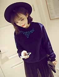 женские моде модный шнековый бур воротник чистой пуловеры толстовки