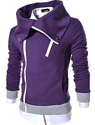 OUER Men's Casual Korea Style Terry Slim Coat