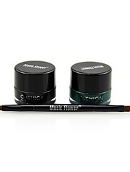 Music Flower Take Air Cushion Eyeliner(Black + Green)