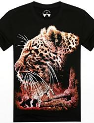 mannen o-hals zomer leopord dier 3d gedrukte korte mouw t-shirt
