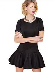 Women's Sexy Splicing Small Waist  Dress