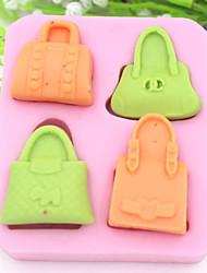 quatro furos bolsa ferramentas bolo fondant de chocolate em forma de silicone bolo molde decoração, l8.5cm * * w7.5cm h1.6cm