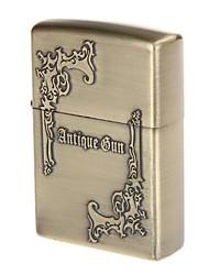 bolso antigo arma óleo liga de zinco de design mais leve (bronze)