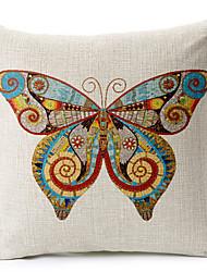 fronha linda borboleta algodão / linho impresso decorativo