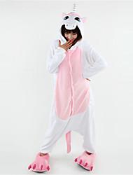Kigurumi Pijamas Unicorn Leotardo/Pijama Mono Festival/Celebración Ropa de Noche de los Animales Halloween Rosado Retazos Lana Polar