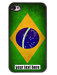 Personalized Case Brazilian Flag Design Metal Case for iPhone 4/4S