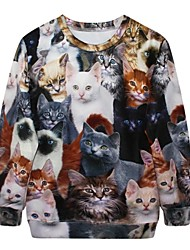 manches longues expression de chat imprimée pull sweat femmes pinkqueen®