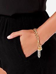 Fashion Crystal Golden Alloy Charm Bracelet(1 Pc)