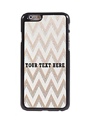 caso de telefone personalizado - caso design de metal ripple branco para iphone 6