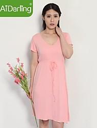 aidarling женщин модальных v воротник и короткие рукава домашней обстановки одежду ночной рубашке пижамы