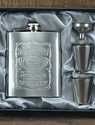 Multifunction Portable Thickening 7oz Jack Daniels Stainless Steel Pocket Hip Whiskey Flask Suit