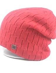 logotipo fur hat stripe shinning / chapéu de malha de unisex