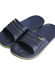Men's Shoes Casual Rubber Slippers Black/Gray/Tan/Navy