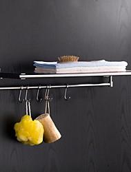 24 Zoll moderne Wandzeichnung # 304 Edelstahl Handtuchhalter nach oben und unten