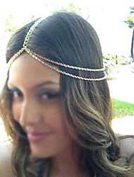 señorita rose®fashion cadena doble diadema de oro